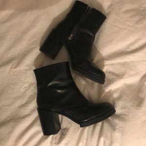 Cheap Monday Black Platform Leather Boots